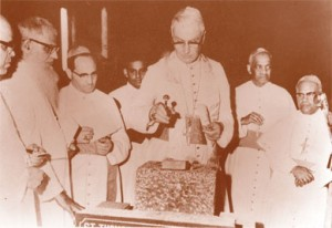Foundation stone laid by Prefect of Oriental congregation Cardinal Furstenburg